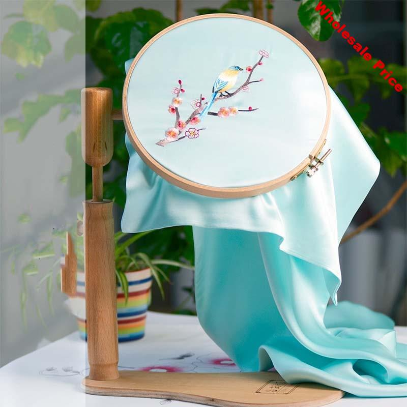 Embroidery Hoop Stand Wood Cross Stitch Hoop Set Embroidery Ring Frame Adjustable Embroidery Tools 24cm 28cm