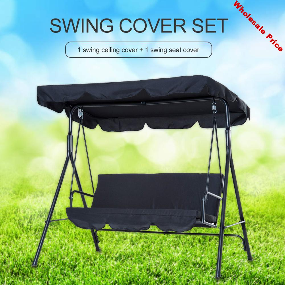 Patio Swing Cover Set Swing Canopy Replacement Cover Waterproof Porch Top Cover For Patio Yard Seat