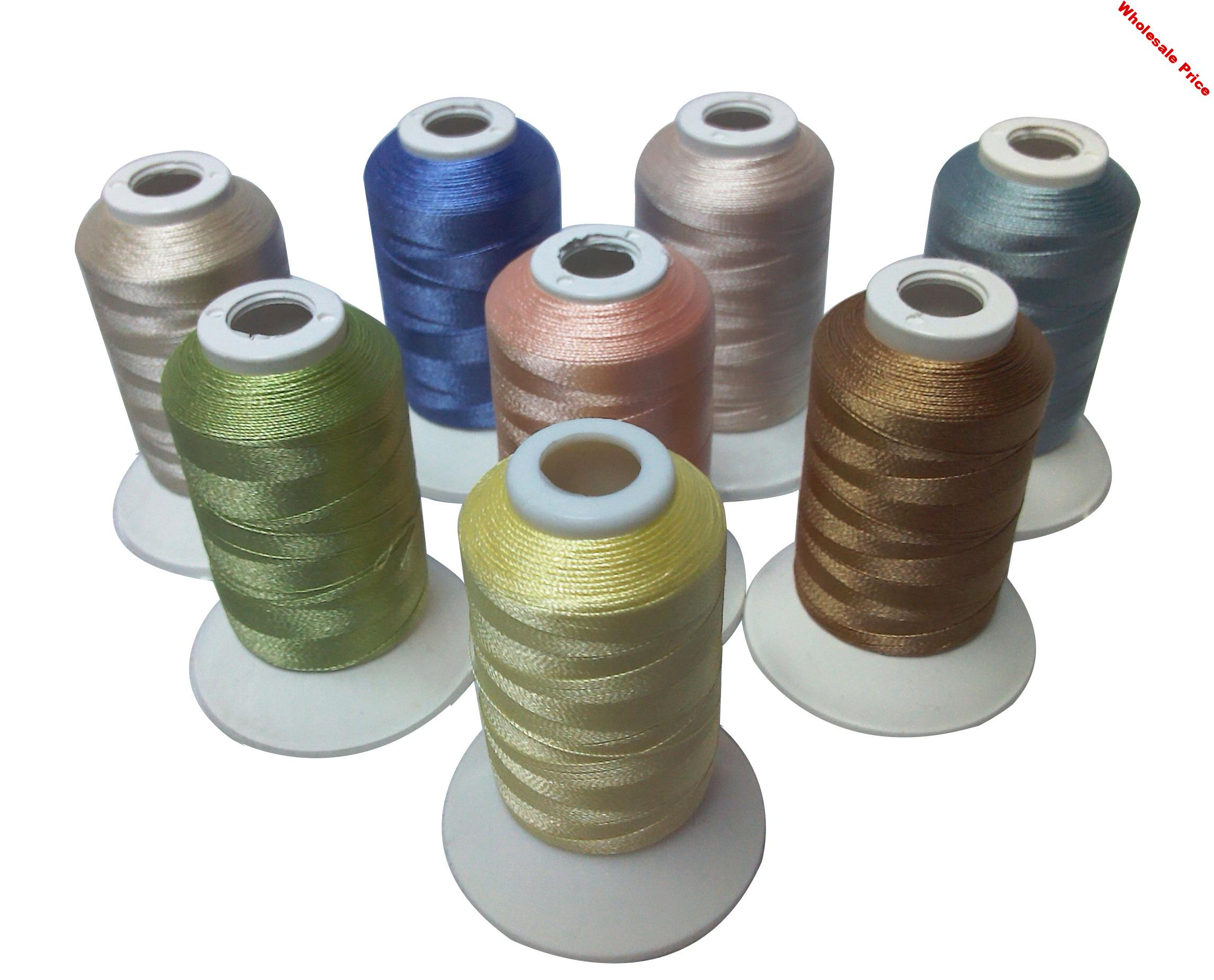 8 Colors Trilobal Polyester Embroidery Machine Thread for Brother Babylock Janome Singer Pfaff Husqvarna Bernina Machines