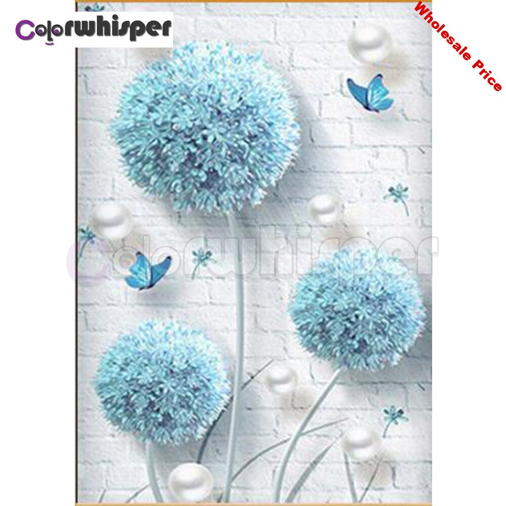 Diamond Painting Full Square/Round Drill Dandelion 5D Daimond Painting Embroidery Cross Stitch Mosaic Crystal Picture Z1379