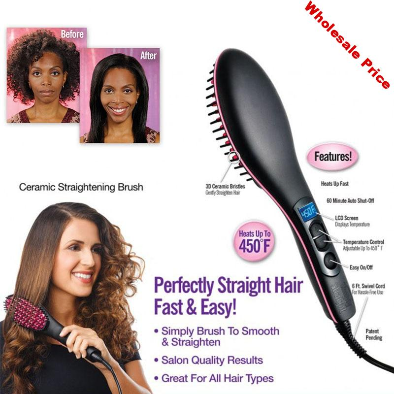 2018 Simply Straight hair straightening irons the ceramic straightening brush quality results in minutes straighten