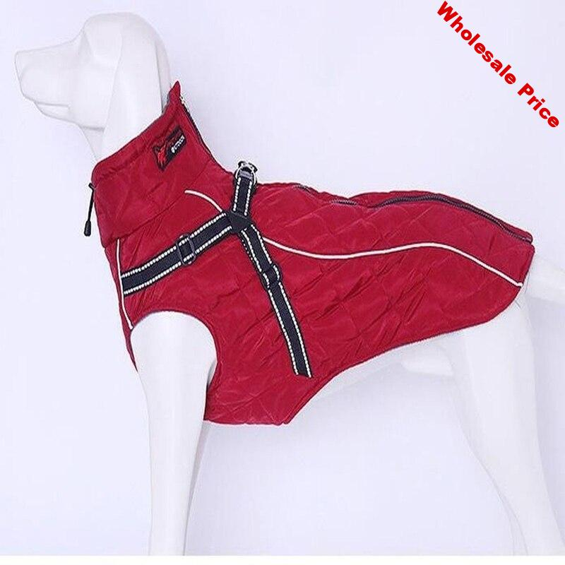 Pet Dog Clothes Big Large Dog Jacket Coat Winter Soft Warm Fleece Retriever Thickening Cotton Dog Clothes For Dog supplies