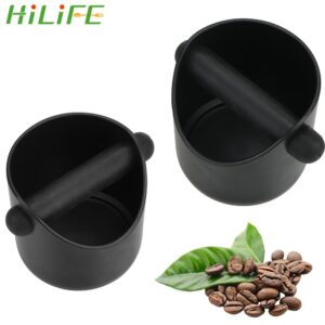 HILIFE Cafe Accessories Espresso Grounds Container Household Coffee Tools Anti Slip Coffee Grind Dump Bin Coffee Grind Knock Box