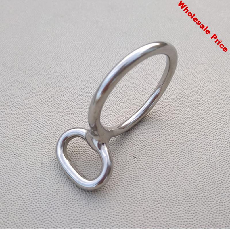 Stainless Steel Bridle  Buckle  For Leather  Bag 10 Pieces Per Pack Ring Buckle With Eye Ring With Ring Eye