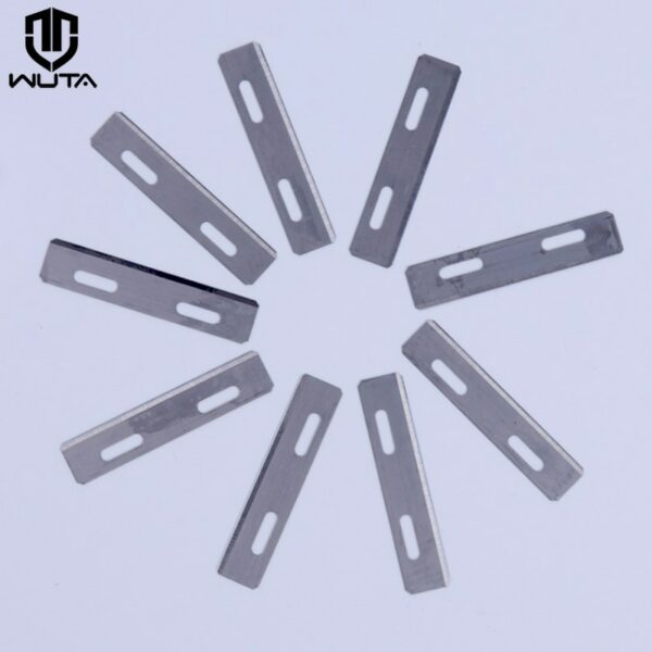 WUTA 9Pcs stainless steel Replacement Blades German Import Fit For WUTA Leather Skiving Knife Tool DIY Leather Craft Accessories