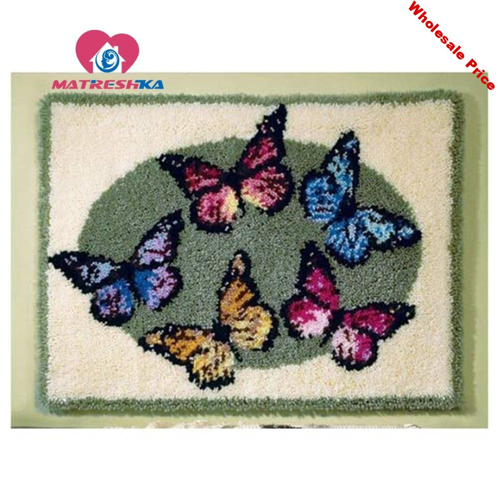carpet embroidery kit butterfly latch hook rug kits do it yourself needlework button package embroidery carpet latch hook rugs