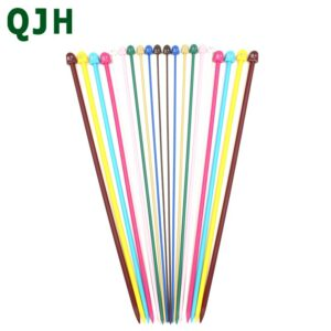 QJH 10 set 20 piece multi-color plastic single pointed knitting needles Reinforcement of inner wire DIY tools