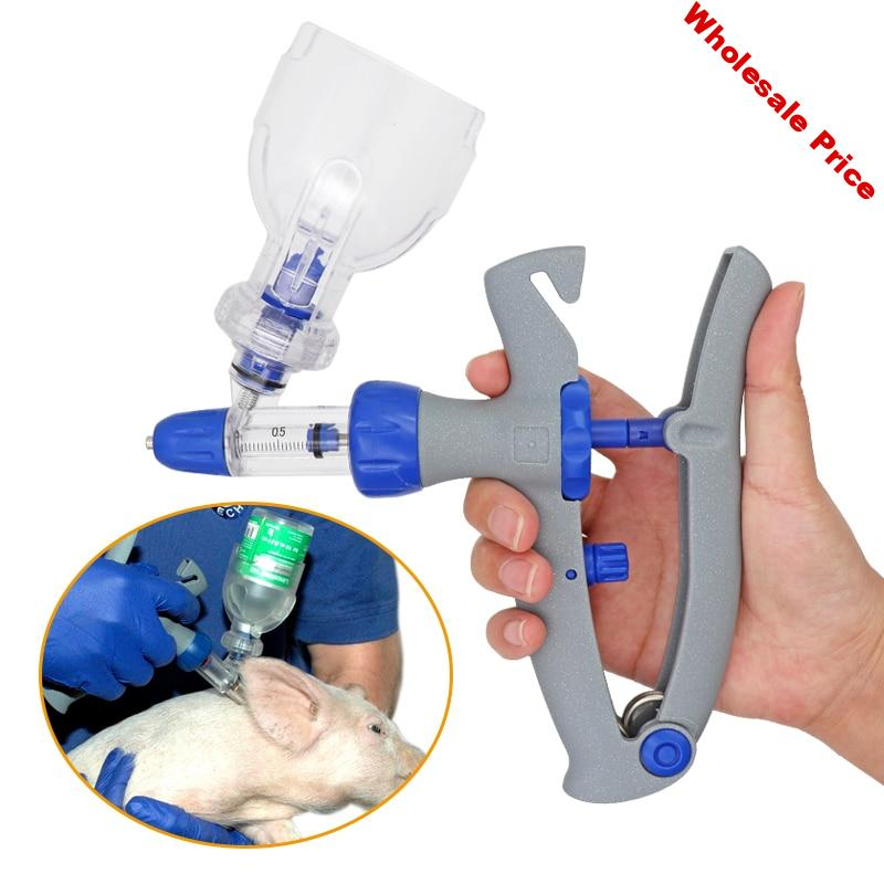 1ml 2ml 5ml Syringe Veterinary Continuous Injector Vaccine Injection Poultry Adjustable Automatic For Chicken Duck Pig cow sheep