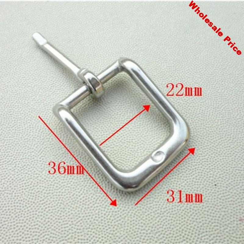 20PCS Per Lot Buckle For Garment  Shoes Bag Stainless Steel 22mm Inner Width Pin Buckle