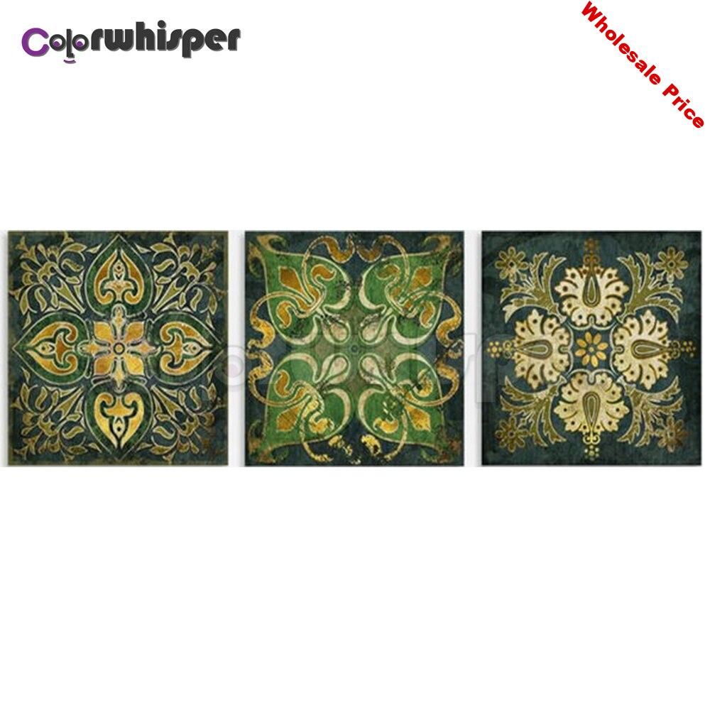 3PCS Diamond Painting Full Square/Round Drill Mandala 5D Daimond Painting Embroidery Cross Stitch Picture Wall Art  Z1294