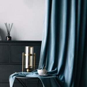 Europe Velvet Blackout Curtains For Living Room Bedroom Blue Solid Curtains Window Treatment For Kids Room Custom Size &40