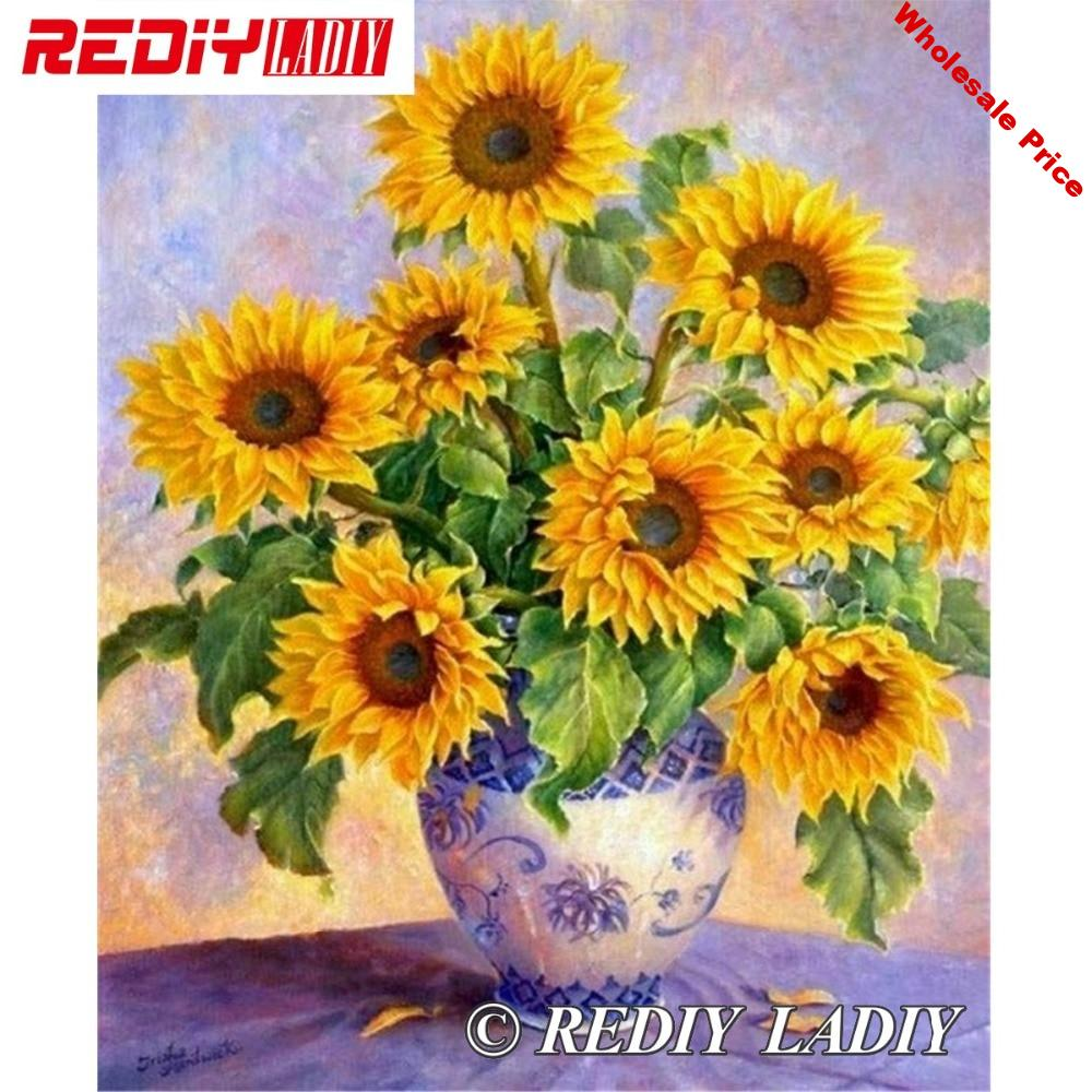 30x37.5cm 3D Accurate printed crystal beads embroidery kit sunflower beadwork crafts needlework diy beads cross stitch APT645