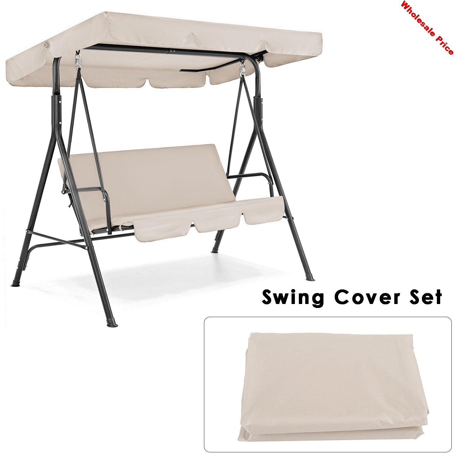 Patio Swing Cover Set Swing Canopy Replacement Cover Waterproof Porch Top Cover For Patio Yard Seat Chair Dust Cover