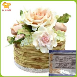 2016 paragraph Fondant cake silicone mold  dry Pace modeling mold  DIY silicone mould branches woven baskets