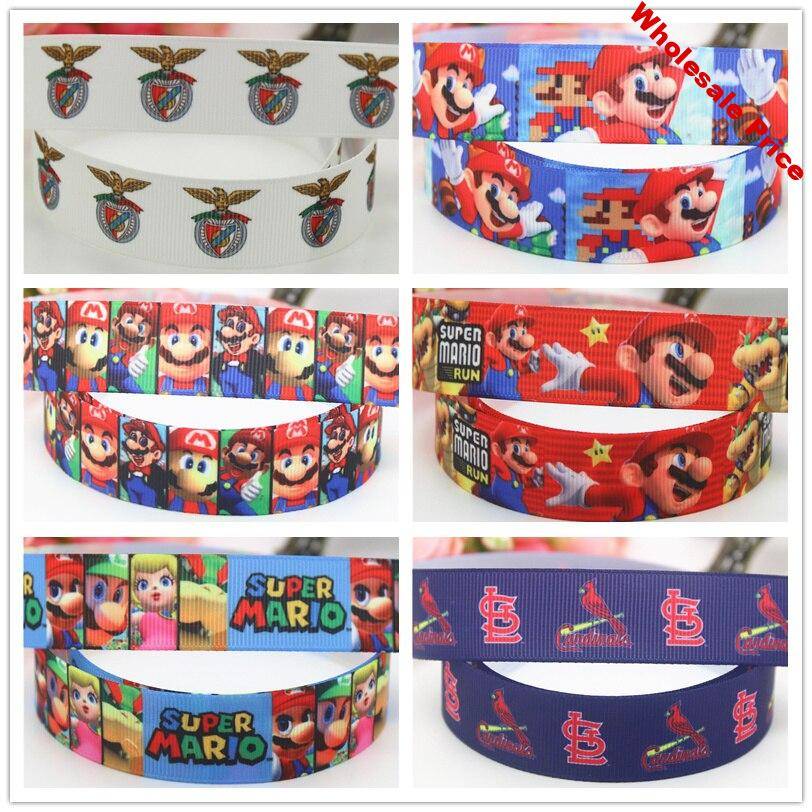 DHK 7/8'' Free shipping super printed grosgrain ribbon hairbow headwear decoration OEM 22mm S678