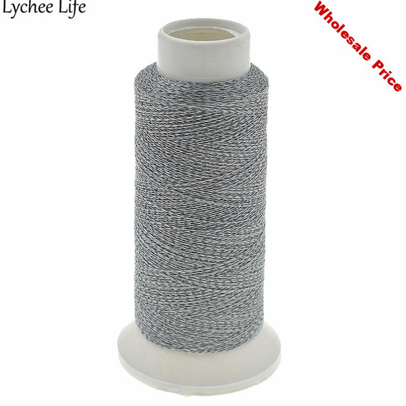Lychee Life Reflective Sewing Thread Line DIY 1000M Polyester Handmade Threads Sewing Bag Clothes Accessories Supplies