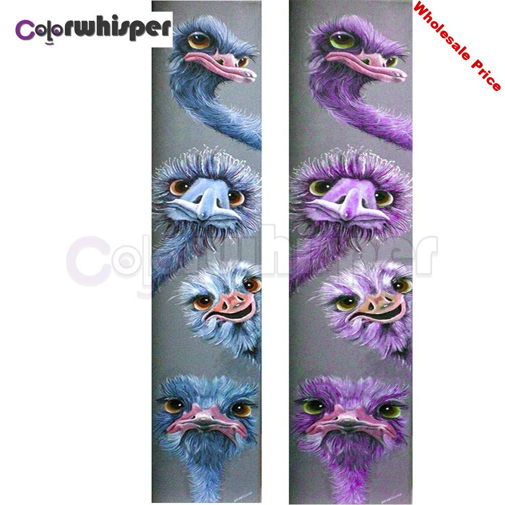 Diamond Painting Full Square/Round Drill Ostrich 5D Daimond Painting Embroidery Cross Stitch Mosaic Picture Wall Art  Z673