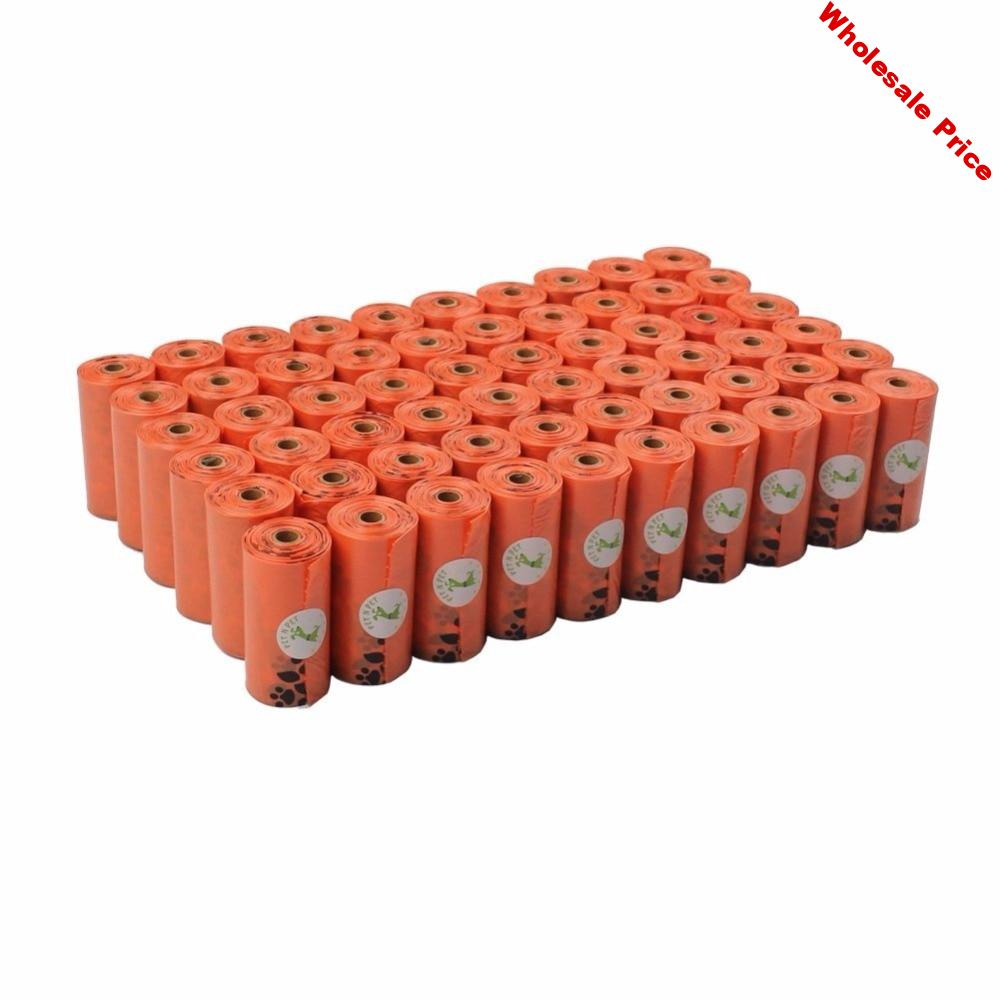 Dog Poop Bags Earth-Friendly 1080 Counts Large Orange Cat Waste Bags Unscented 60 Rolls (Refill Bags) Garbage Bag