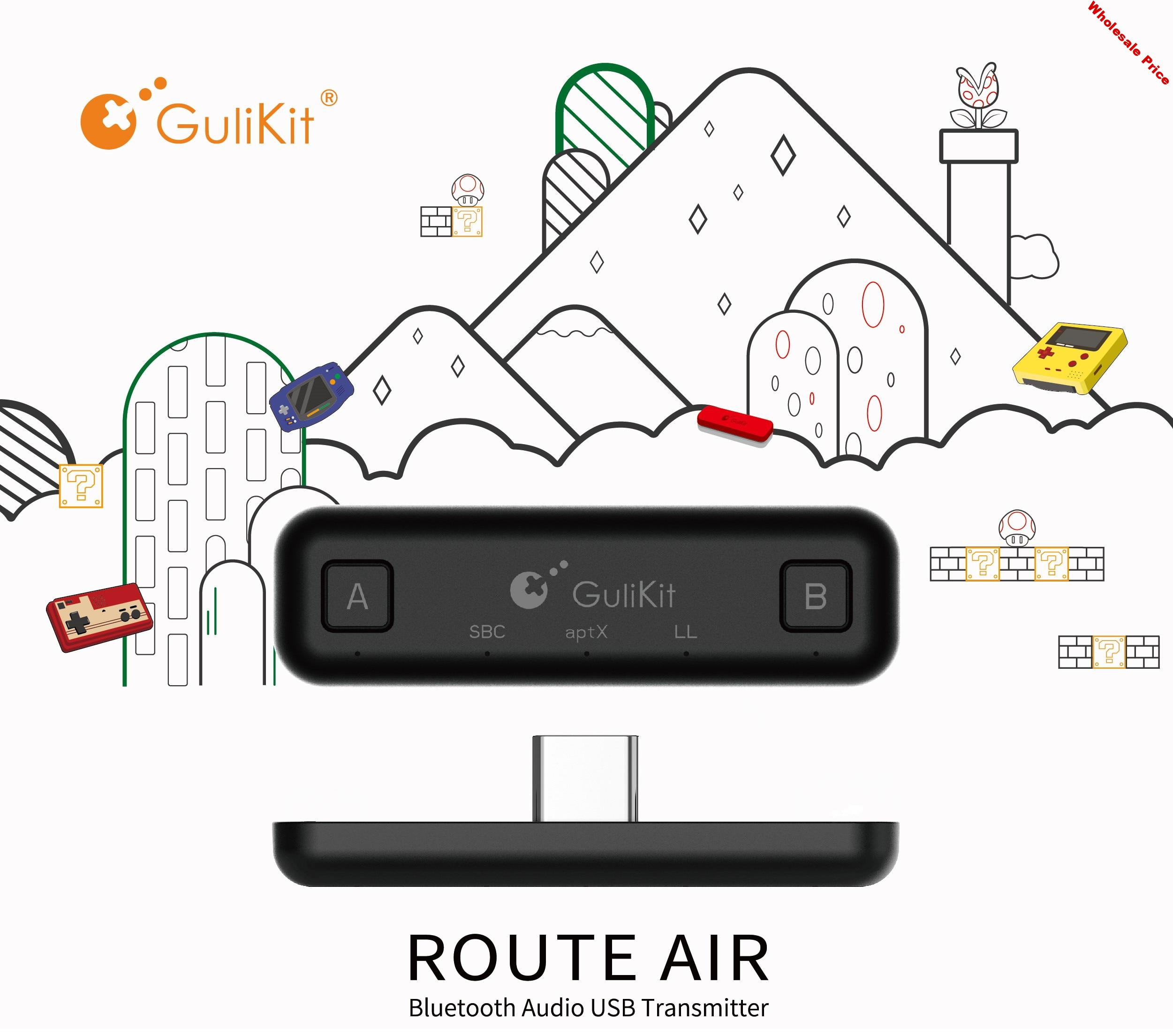 Route Air  Bluetooth Wireless Audio Adapter Type-C Transmitter USB receiver for Nintendo Switch Switch Lite PS4 PC