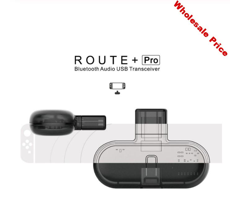 Gulikit Route+ Pro Bluetooth Audio Adapter Wireless Transceiver USB C Adapter For Nintend Switch PC Support in-Game Voice Chat