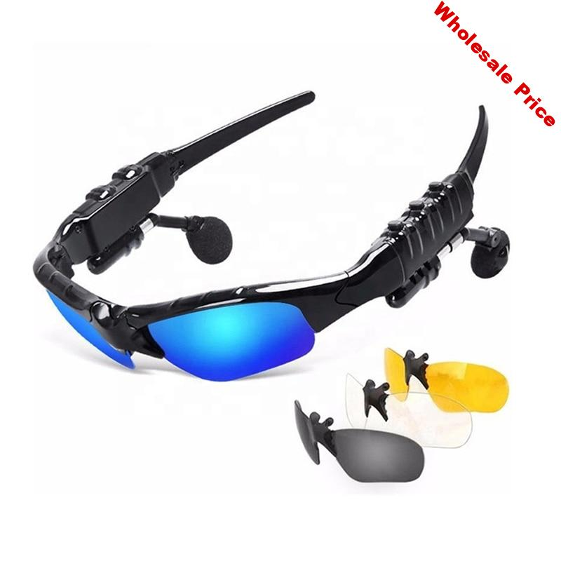 Bluetooth Sunglasses Headphone Music Headset Earphone Sunglass for Climbing Fishing Driving Traveling Cycling Skiing Sun Glasses