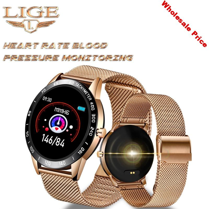 LIGE Sports Smart Watch Men Smart Fitness Watch heart rate blood Pressure Monitor Pedometer for Android ios Active Watch Women