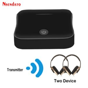 Bluetooth 5.0 Wireless Audio Adapter 2 In 1 Wireless Transmitter TV Receiver Digital Optical Toslink/SPDIF With CSR8675 APTX-HD