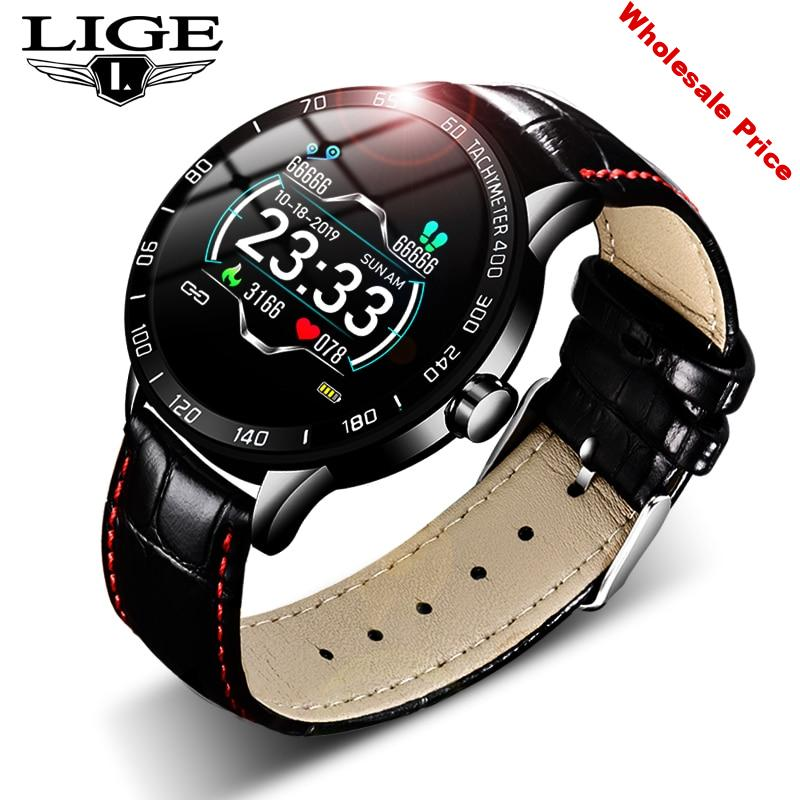 LIGE New Smart Watch Men Fitness Smart Watch IP67 heart rate blood Pressure Monitor Pedometer for Android ios Sports smart watch