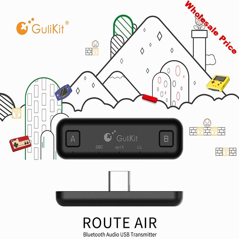 GuliKit NS07 USB-C Route Air Bluetooth Wireless Audio Adapter or Type-C Transmitter for the Nintendo Switch Switch Lite PS4 PC