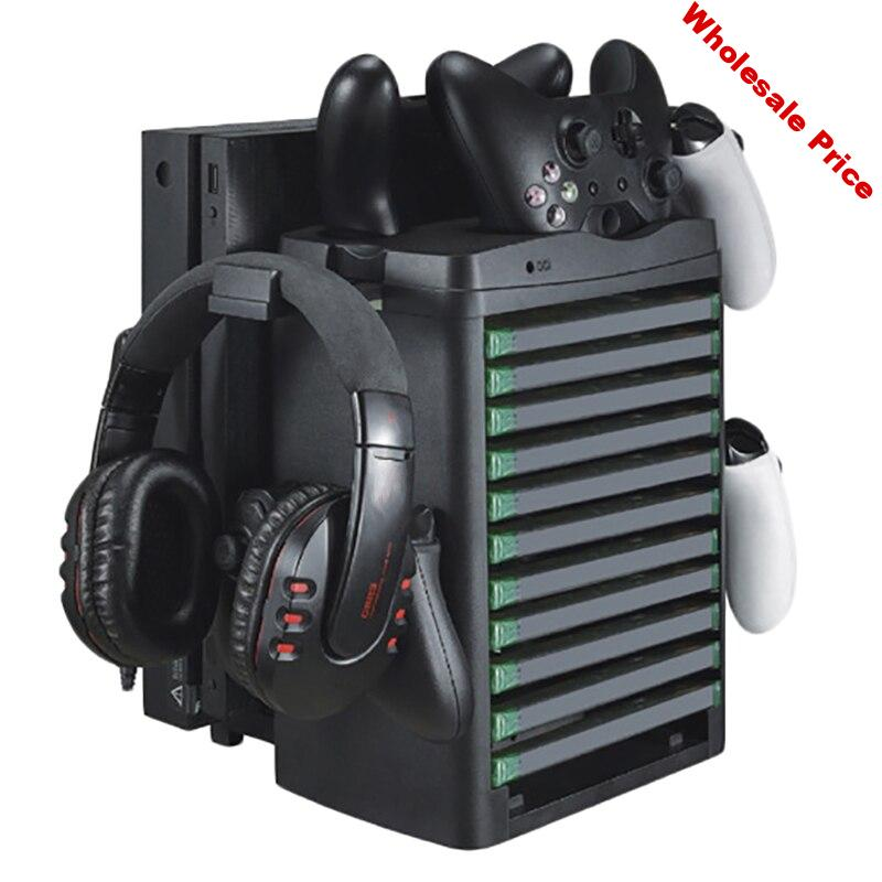 for  ONE/X/Slim VR Display Cabinet Accessories Slim & Pro Vertical Cooling Fan Cooler Controller Charger Game Board Headset