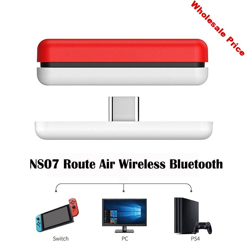 New Arrive NS07 Route Air Bluetooth Wireless Audio Adapter or Type-C Transmitter for the Nintendo Switch Switch Lite PS4 3 PC