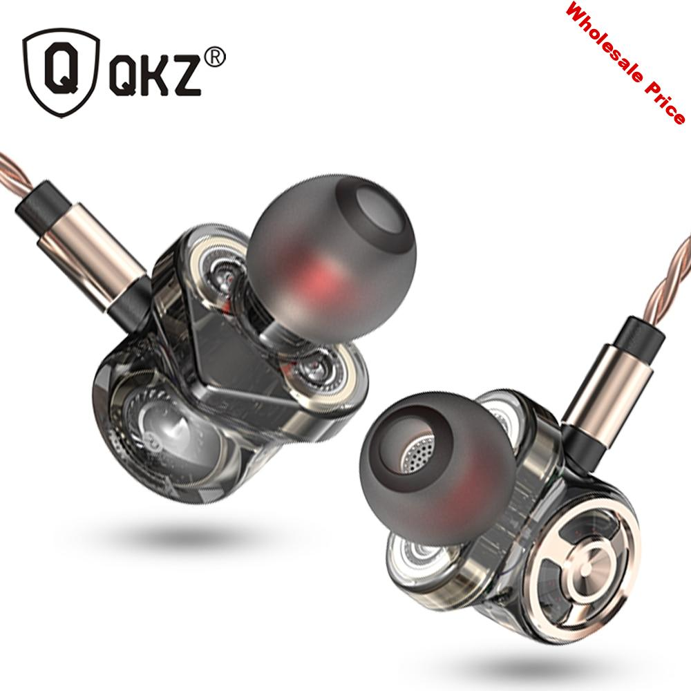 QKZ CK10 In Ear Earphone With Microphone 6 Dynamic Driver Unit Headsets Stereo Sports HIFI Subwoofer Earphones Monitor Earbuds