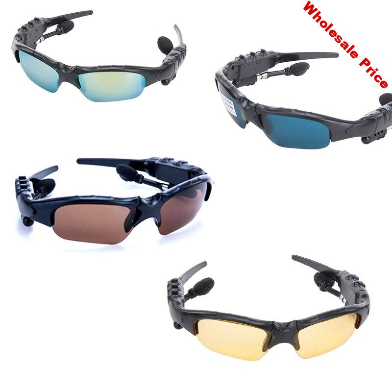 Smart Bluetooth Sunglasses handsfree Stereo mp3 Music polarizing Sun Glasses Wireless Headset Sport Earphones with Microphone