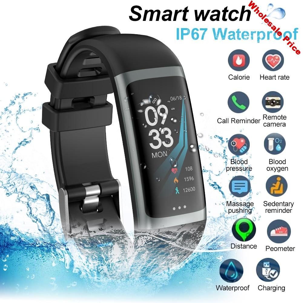 G26 Color Screen Smart Sports Watch Android IOS Phone Smartwatch Heart Rate Monitor Blood Pressure Functions For Women Men Kid