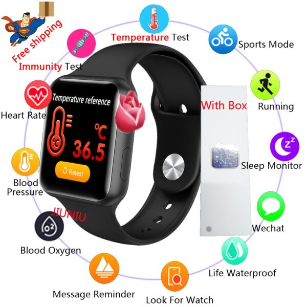 2020 Temperature Smart WatchV10 Man Woman Sport Fitness Tracker Smartwatch Connected Bluetooth Camera Bracelet For Apple Android