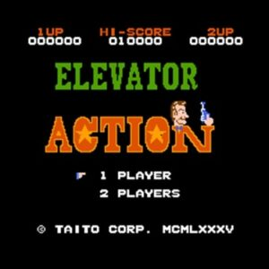 Elevator Action Region Free 8 Bit Game Card For 72 Pin Video Game Player