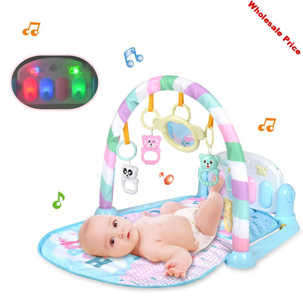 Kidlove Baby Pedal Piano Toy Gym Carpet with Piano Keyboard Fitness Play Mat Musical Interactive Toy Cute Animal Playmate