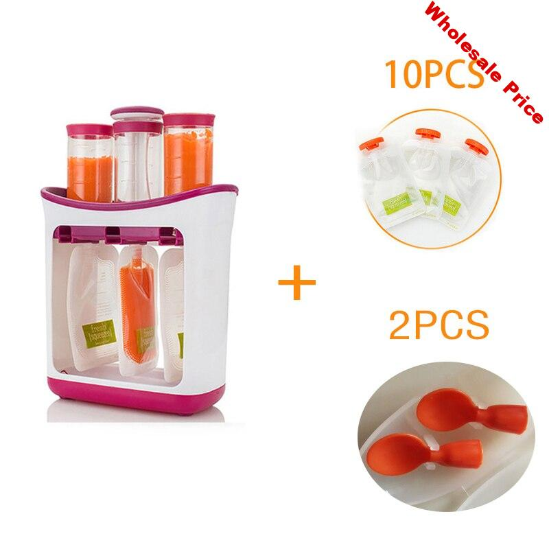 Dropshipping Baby Food Maker Squeeze Food Station Organic Food Adult Newborn Fresh Fruit Container Storage Baby Feeding Maker