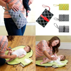 Portable Baby Diaper Bags Cover Storage Folding Waterproof Diapers Mat Diapering Changing Pads