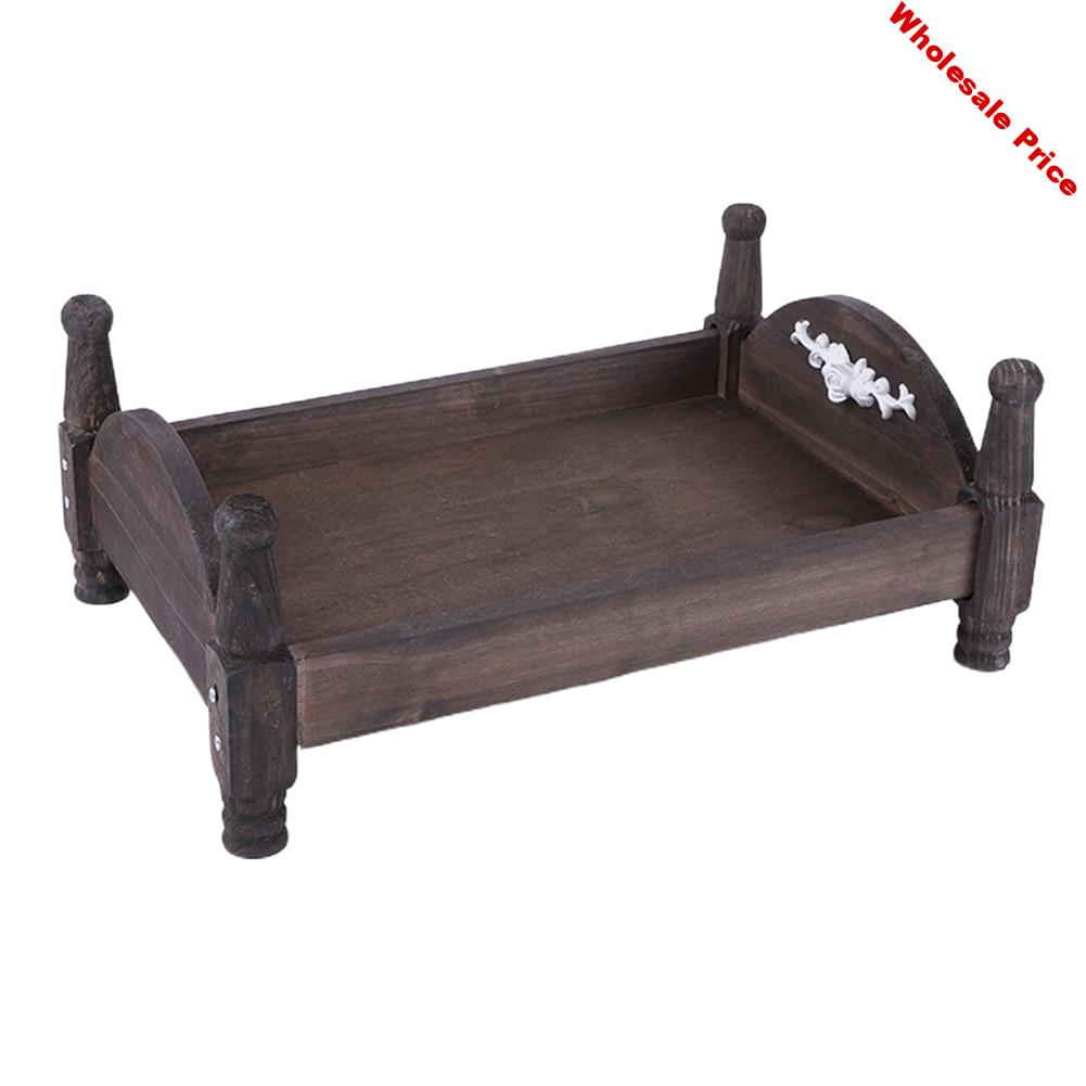 Posing Mini Gift For Newborn Detachable Background Easy Install Wooden Baby Bed Accessories Crib Photography Props Photo Studio