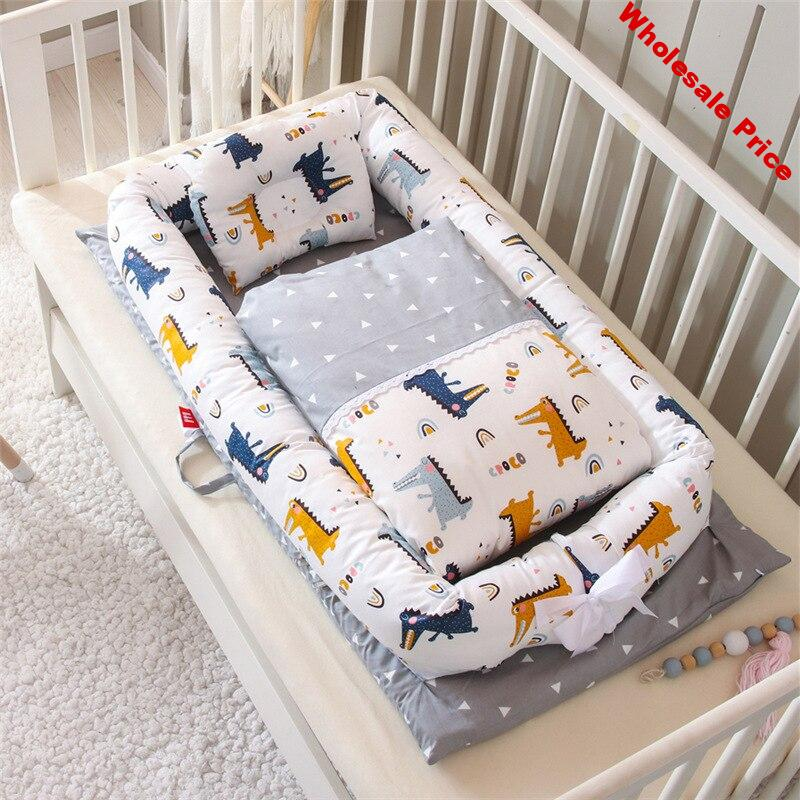 90*50cm Folding Baby Nest With Quilt Travel Bed Crib Newborns Cots Sleep Nest Infant Cradle Bed Baby Cuna Portable Baby Nest