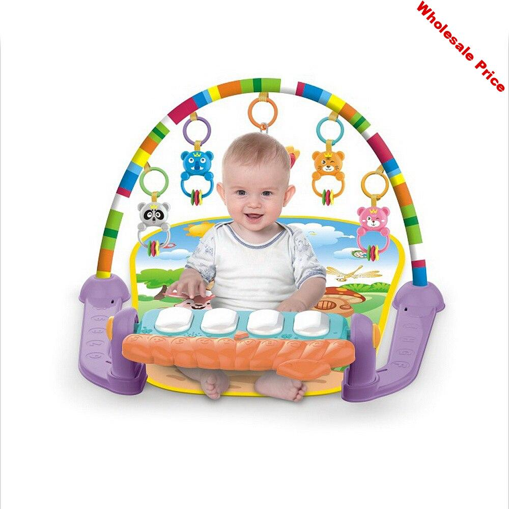 LOOZYKIT Baby Music Rack Play Mat Kid Rug Puzzle Carpet Piano Keyboard Infants Develop Early Education Gym Crawling Game Pad Toy