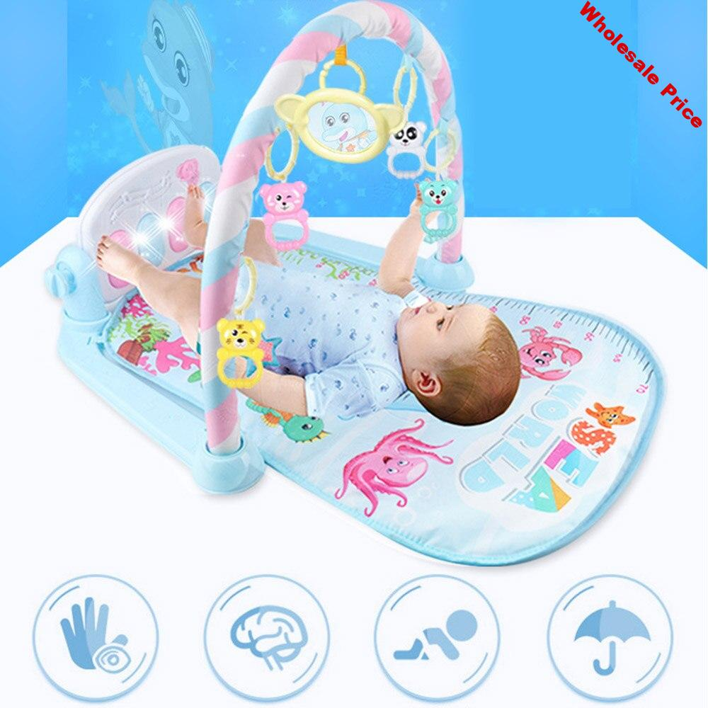 Newborn Baby Play Mat Fitness Bodybuilding Frame Pedal Piano Music Carpet Blanket Activity Kick Play EducationToy