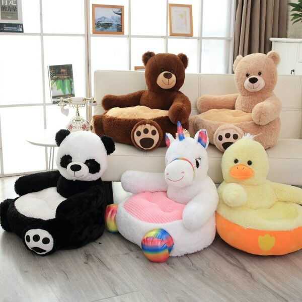 Baby Nest Sleeping Bed Stuffed Teddy Bear Panda Plush Cover Toys Children Gift Lovely Cartoon Kids Sofa Chair without Filler