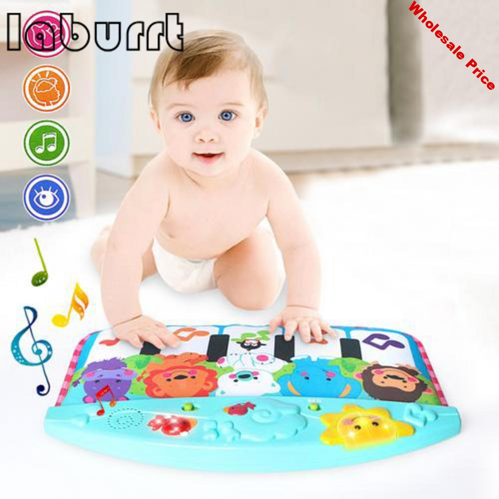 Baby toys cute animal kicking crawling mat children multifunctional music lighting pedal piano early education toys
