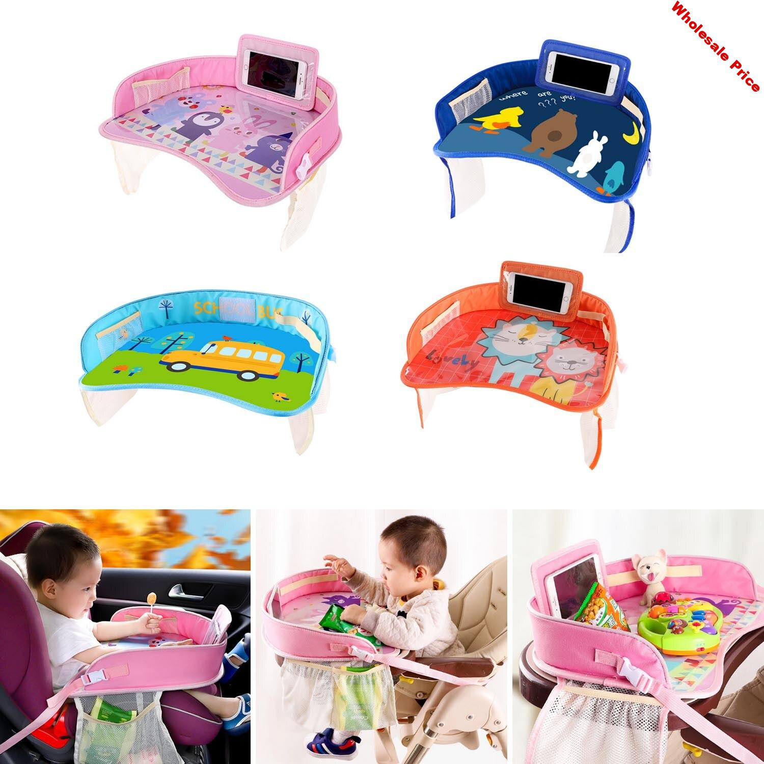 Kids Car Seat Tray Waterproof Car Seat Activity Desk Play Tray Multifunctional Baby Kids Seat Food Drink Table Safety Seat Tray