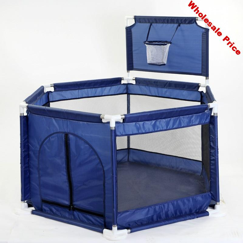 Child play fence interactive toys Outdoor heighten six-sided fence marine ball pool baby playpen yard