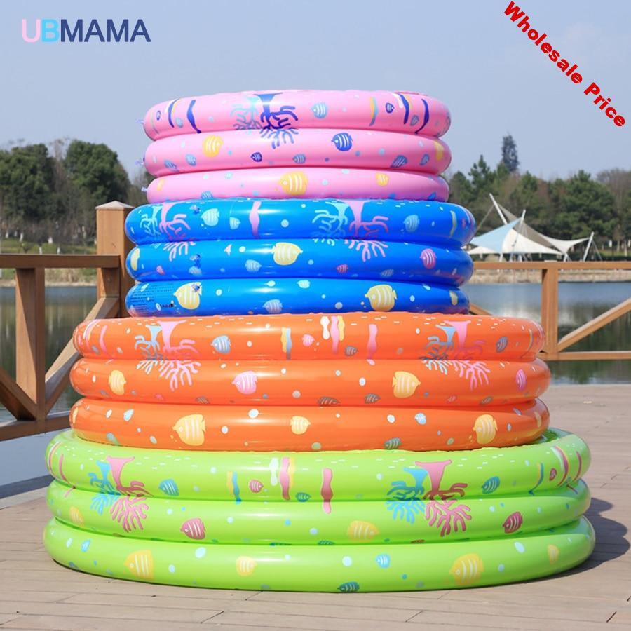 Inflatable play center Swim Center Family Inflatable pool Water Play Mat for Children and Infants Round Inflatable Kiddie Pool