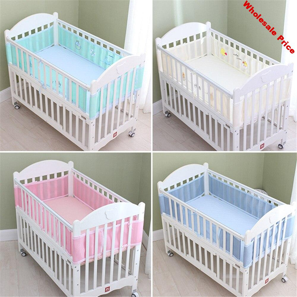 Crib Bumper Newborn Baby Bed Bumper Mesh Bumpers In The Crib Breathable Cot Bumper for Head Protector Room Baby Bedding Set
