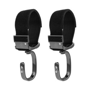 2Pcs 360  Rotation Aluminum Baby Stroller Hook With Hook Loop Fastener For Storage Stroller Hook